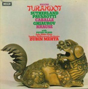 Puccini Turandot Decca Zubin Mehta Pavarotti